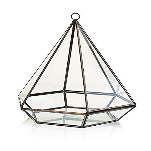 Hanging Diamond Glass Terrarium 29cm H Home Decorative Geometric Flower Plant Pot For Succulents Air Plants