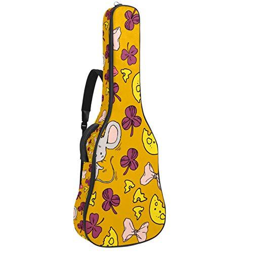 106 cm de alta calidad doble ajustable correa para el hombro para guitarra acústica, ratones piezas de hojas de queso y arcos
