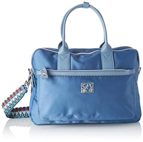ctta caminatta S2358, Bolsa para portátil para Mujer, Azul (Tejano), 10x27x39 cm (W x H x L)