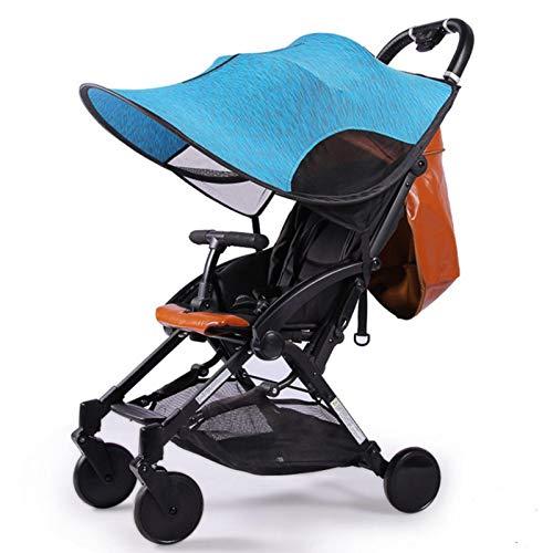 Sonnenschutz Für Kinderwagen, Universal-Sonnenschirm Sonnencreme-Abdeckung Für Kinderwagen-Wagen-Zubehör Verdickte Stahl-Drahtstreifen, Kinderwagen-Zubehör-Markise Anti-UV-Regenschirm-Sonnenschutz