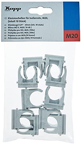 Kopp 397820090 10x Klemmschelle für Isolierrohr M20, grau, 10 Stück