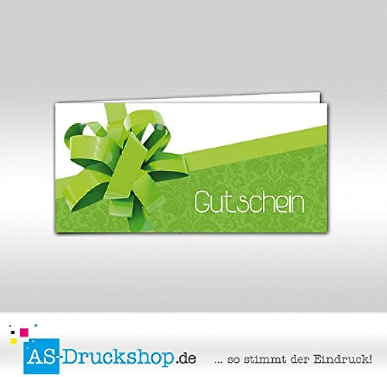 Gutschein für jeden Anlass - Knallgrün   100 Stück   DIN Lang B0794ZC1J7 | Lebhaft und liebenswert