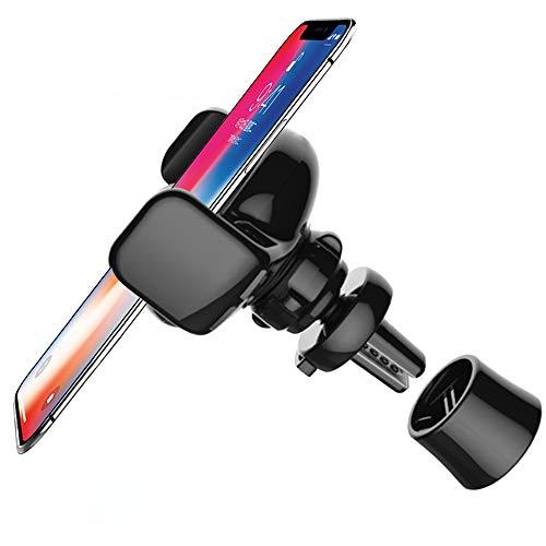 AFUNTA Gravity - Soporte de coche para teléfono móvil de 360 grados, compatible con Samsung S6 S7 S8 S9 Edge iPhone X XS Max 8 7 6 Plus, color negro