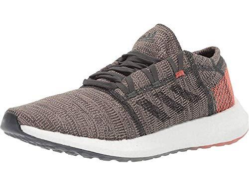 adidas Men's Pureboost Go Running Shoe, Legend Ivy/Black/True Orange, 8 M US