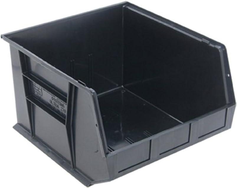 Quantum QUS270 Plastic Storage Stacking Ultra Bin, 18-Inch by 16-Inch by 11-Inch, Black, Case of 3 rllszxqb060902
