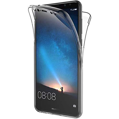 NewTop Cover Compatibile per Huawei Mate 10 Lite, Custodia Crystal Case TPU Silicone PC Protezione 360° Fronte Retro Full Body (per Mate 10 Lite)