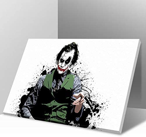 Modern online shop Movie Max 65% OFF Poster Colorpainted The Art Wall Joker Paint Canvas