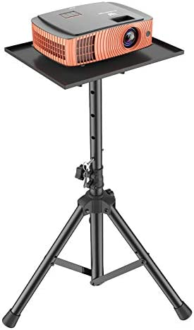 Amada Projector Tripod Stand, Foldable Laptop Tripod, Multifunctional DJ Racks/ Projector Stand with Adjustable Height, Perfect for Office, Home, Stage or Studio-AMPS01