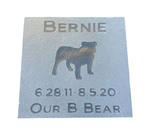 Pet Memorial Stone, Dog Gravestone, Garden Memorial 6 x 6 Slate, All Breeds Available