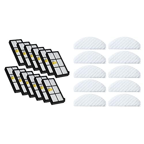 2 Establecer Piezas de aspiradora: 1 Set Kit de Filtro HEPA y 1 Set Limpiador de trapeadores de trapeadores. Piezas de aspiradora (Color : Sky Blue)