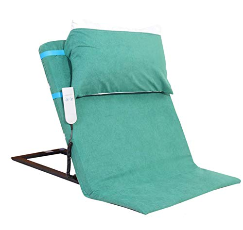 Respaldo eléctrico para cama, sillón reclinable, portátil, ajustable, para sentarse, respaldo, tubos de acero inoxidable, respaldo, soporte de cama para cuello ortopédico, cabeza, soporte lumbar