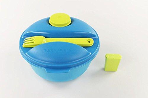 TUPPERWARE To Go Salat&Go 1,5L limette blau + Würzling 25 ml grün C72 P 23043