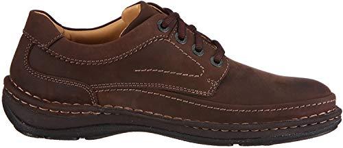 Clarks Nature Three 20340682 - Zapatos casual de cuero nobuck para hombre, color marrón (Ebony Oily), talla 43