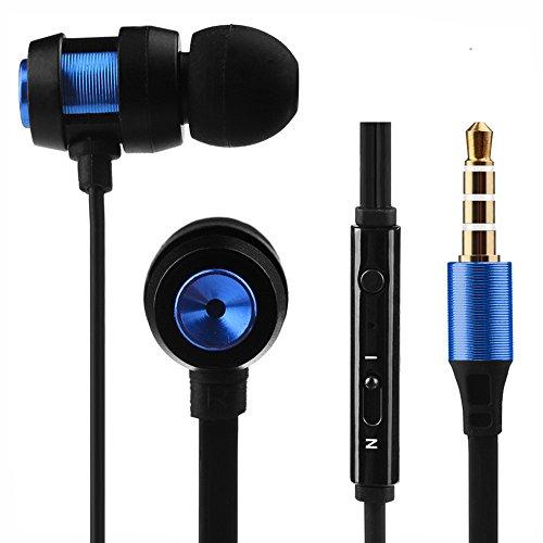 Kopfhörer Super Bass Stereo In-Ear Kopfhörer Sport Headset mit Kopfhörer In Ear Kopfhörer für Iphone7 (Blau)