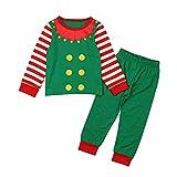 SBSJNR Weihnachten Neugeborenes Baby Weihnachtskleid Unisex 2Pcs Anzug Top + Hosen -