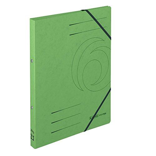 Herlitz 11255445 Ringhefter A4, 2 Ring-Mechanik, Rückenbreite 25 mm, Füllhöhe 14 mm, Colorspan, 5 Stück, grün