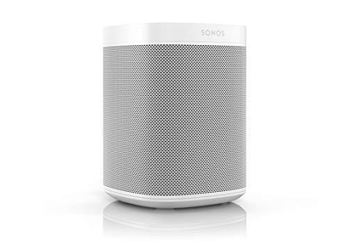 Sonos One Smart Speaker - Altavoz WLAN Inteligente con Control por Voz Alexa y airplay (multiroom Speaker para una transmisión ilimitada de la música), Color Blanco.