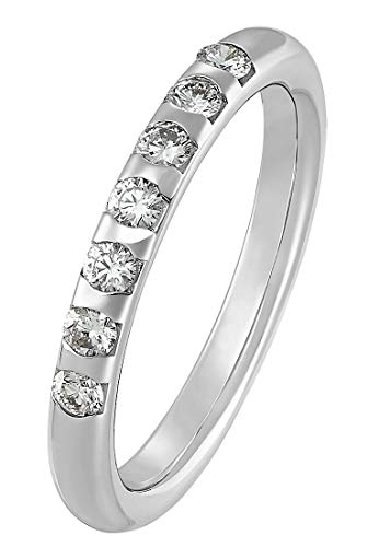 CHRIST Diamonds Damen-Damenring 585er Weißgold 7 Diamant 58 Weißgold 32003908