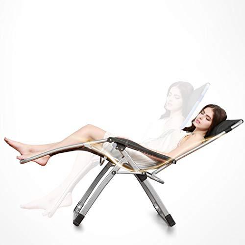 RAPLANC Terrasse Liegestuhl, Einzel multifunktionalen Büro Siesta Stuhl zu Hause Schwangere Frau Stuhl Balkon Liegestuhl faul Klappstuhl