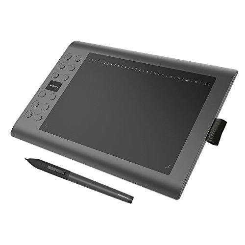 GAOMON M106K Tableta Gráfica con 2048 Niveles de Presión 12+16 Teclas de Atajo, Portátil para Dibujar/Editar
