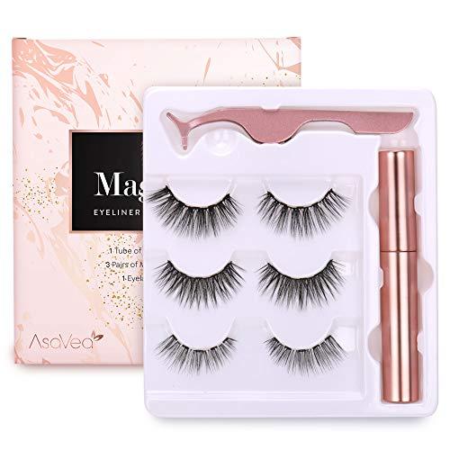 Magnetic Eyelashes with Magnetic Eyeliner Kit (3 Pairs)