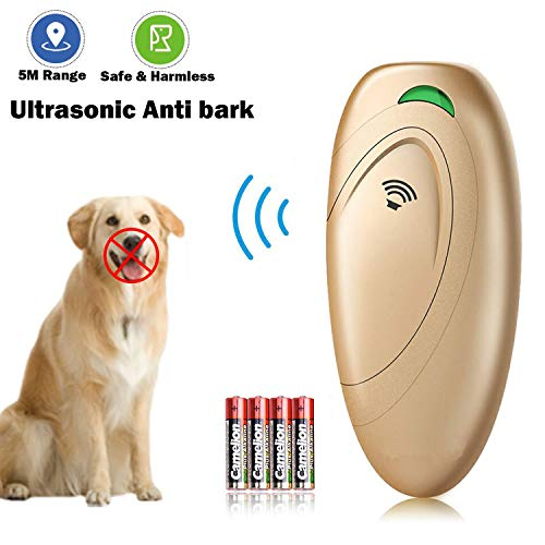 XKPET Dispositivos Antiladridos para Perros, Ultrasónico Adiestramiento, Entrenamiento de Perros y Control De Ladridos, 100% Seguro, Rango 5m