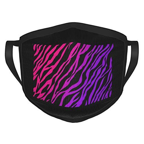 Hot Pink Purple Zebra Print Wallpaper Women Reusable Black Dust Mouth Cover Black Mouth Cover