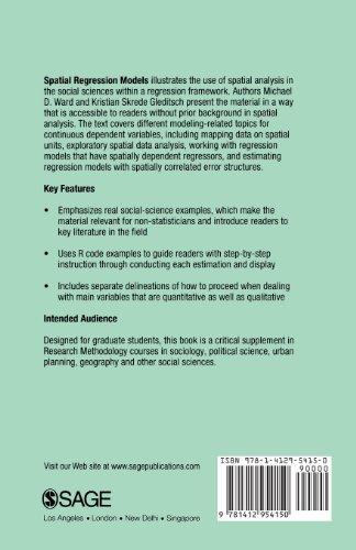 Spatial Regression Models (Quantitative Applications in the Social Sciences)