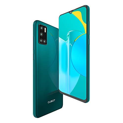 CUBOT P40 Smartphone Dual SIM 6.2 Pulgadas HD + Water Drop Android 10 4GB 128GB Batería de 4200 mAh cámara cuádruple Soporte NFC Face ID CUBOT Oficial,Verde
