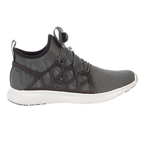 Reebok Men's Pump Plus CAGE Running Shoe, Ironstone/Coal/Chalk, 8 M US