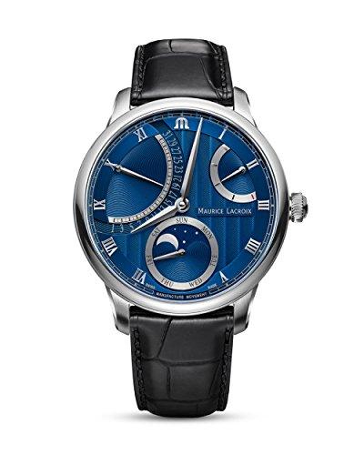 Maurice Lacroix suizo Reloj Automático Lune–Retro Grade mp6588de SS001–431–1