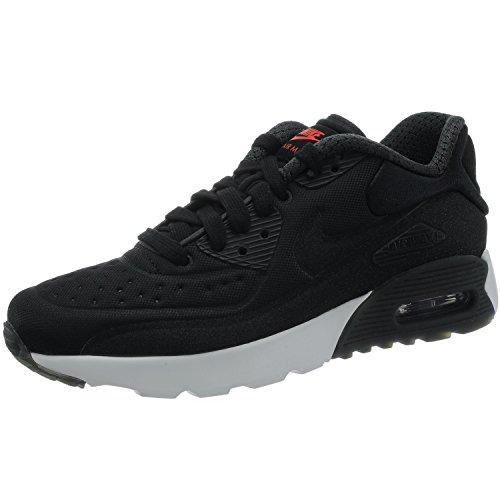 Nike AIR MAX 90 Ultra PRM (GS) - Runningschuhe Kind, Schwarz (Black/Black-University red-White), 36.5