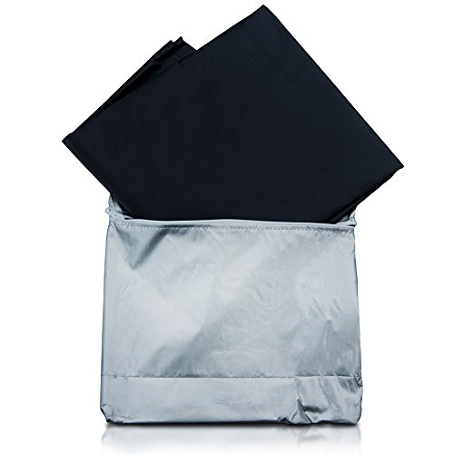 Magnetic Windshield Cover - Huge Size Fits Any Car, Truck, SUV, Van or Automobile - Keeps Ice & Snow Off Exterior Auto Snow Windshield Cover with Magnetic Edges