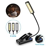 Luz de Lectura Recargable, YINSAN 9 LED Luz de Libro, 9 Modos de Brillo(Luz...
