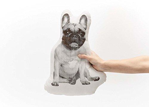 Areaware SFMPDFBN Fauna French Bulldog Pillow, Black/White