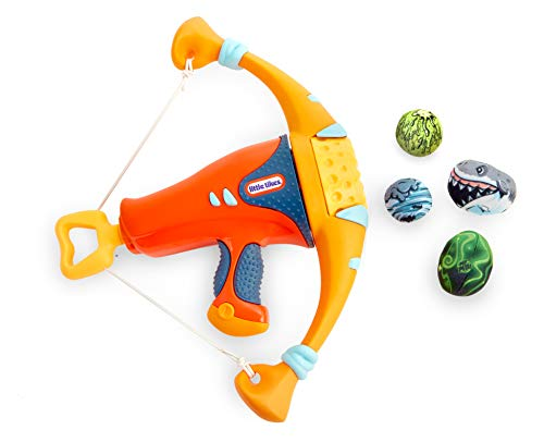 Little Tikes Mighty Blasters Mighty Bow Toy Blaster with 4 Soft Power Pods, Multicolor, Model: