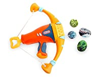 Little Tikes My First Mighty Blasters, Orange Mighty Bow, Safe Hand Launcher With 4 Soft Power Pods,...