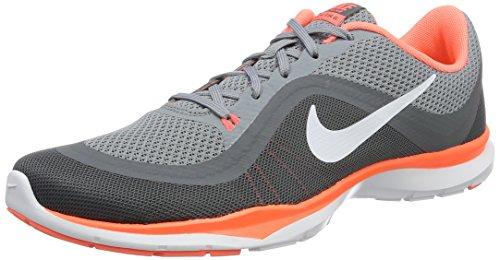 Nike 831217-009 Damen Turnschuhe, Grau (Grau/Bright Mango Orange/Weiß), 37.5 EU