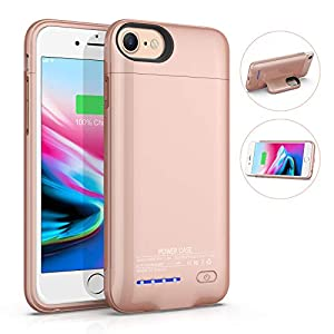 Battery Case For Iphone 66s78se 2020 Magnetic Slim Charger Case 4000mah Rechargeable Portable Charging Case Compatible Phone Stand External Battery Pack Protective Case 47inch