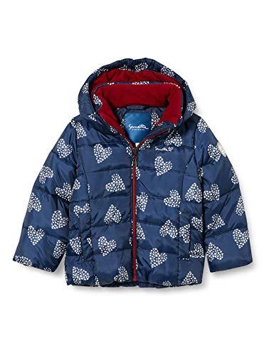 Sanetta Mädchen Outdoor Jacke Nordic Blue Winterjacke Kidswear in Dunkelblau mit Abnehmbarer Kapuze, blau, 104
