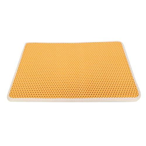 SALUTUYA Almohadilla para Caja de Arena para Gatos Impermeable para su Gato 60x45x2CM(Yellow, Large)