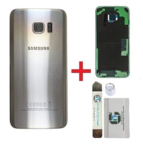 ITG Originale Copertura della Batteria Kit di Sostituzione per Samsung Galaxy S7 Edge Argento (Silver Titanium) – Samsung Pannello Originale Posteriore SM-G935F + 3M Adesivo pretagliato + Strumenti
