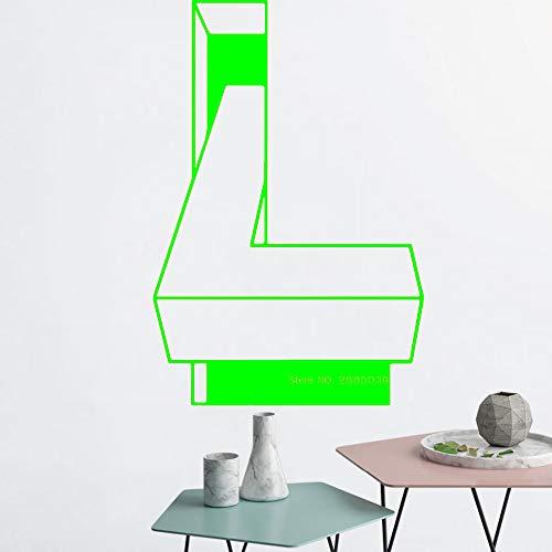 zqyjhkou Calcomanía de ilusión óptica Arte Decoración para el hogar Mural de Pared Decoración de Oficina Pegatinas de Pared Fondos de Pantalla Vinilo extraíble Calcomanías de Estudio 3 M 56cm x 84cm