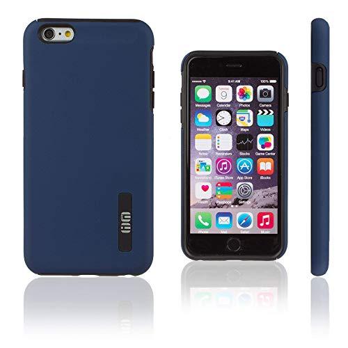 Lilware Smooth Armor Funda para Apple iPhone 6 Plus y 6S Plus. Robusta Plástico Duro Doble Capa Protectora Funda. Negro/Azul Marina Color