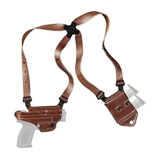 Galco Miami Classic II Right Hand Tan Shoulder Holster Compatible with S&W M&P Shield 9/40 (MCII652)