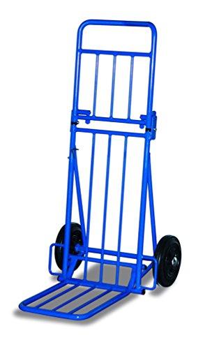 Paketroller 2 fach zusammenklappbar RAL5010 Enzianblau Sackkarre Kistenkarre