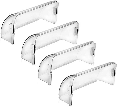 Home Intuition Adjustable Magnetic Air Deflector for Sidewall and Ceiling Registers and Vents, 4 Pack
