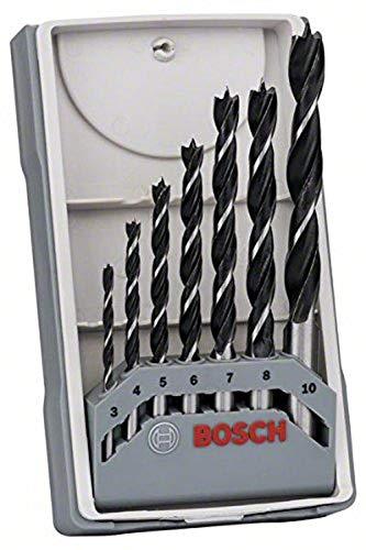 Bosch Professional 7 tlg. Robust Line Holzspiralbohrer Set (für Holz, Zubehör Bohrschrauber)