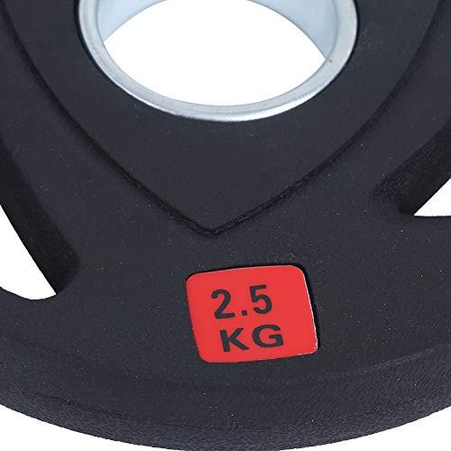 Pieza de levantamiento de pesas, rebanada de barra de mano de tres agujeros, 2.5KG / 5KG / 10KG / 15KG / 20KG para ejercicio, equipo de fitness, gimnasio, entrenamiento deportivo en casa(2.5KG)