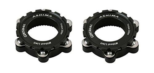 Ashima 2X Adapter für Shimano Centerlock auf is 6 Loch Bremsscheiben 12, 15 o 20mm Steckachse schwarz